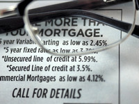 Mortgage rates ad in a newspaper