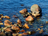 Rocks in the water