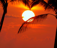 Idyllic tropical sunset